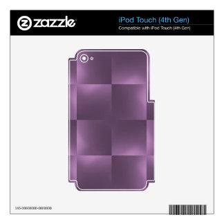 ciruelo brillante de los controles iPod touch 4G skin