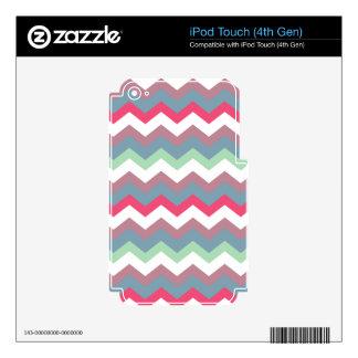 Ciruelo Chevron de Miller polvoriento Skins Para iPod Touch 4G