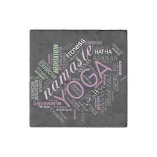 Ciruelo de la nube de la palabra de la yoga/ID254 Imán De Piedra