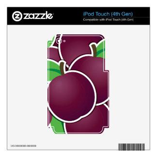 Ciruelo enrrollado calcomanía para iPod touch 4G