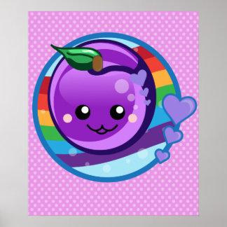 Ciruelo lindo del arco iris del bebé poster