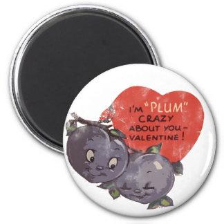 Ciruelo loco por mi tarjeta del día de San Valentí Imán Redondo 5 Cm