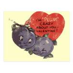Ciruelo loco por mi tarjeta del día de San Valentí Tarjeta Postal