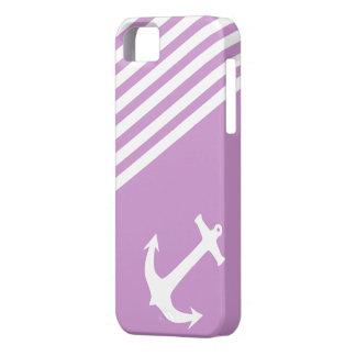 Ciruelo púrpura náutico iPhone 5 cárcasas