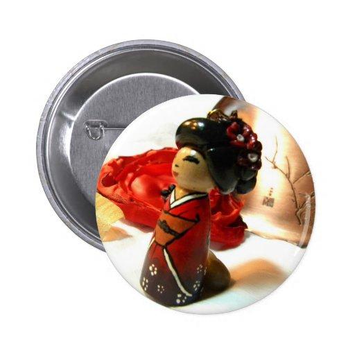 Ciruelo rojo I Pin Redondo De 2 Pulgadas