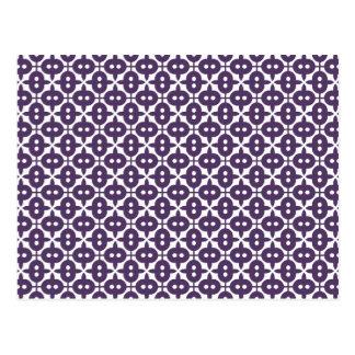 Ciruelo violeta oscuro y modelo blanco tarjetas postales