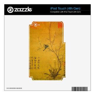 Ciruelo y pájaros por el emperador Huizong iPod Touch 4G Skins
