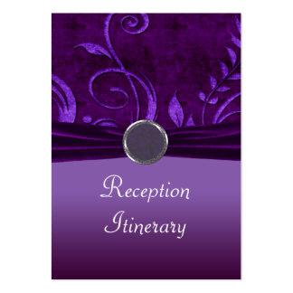 Ciruelo y remolino púrpura del boda del terciopelo tarjetas de visita