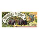 Ciruelos imperiales, arte de la etiqueta del cajón comunicados personalizados