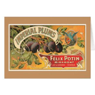 Ciruelos imperiales tarjeta de felicitación