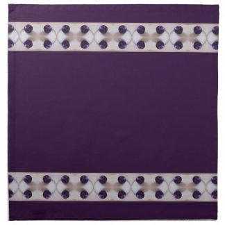 Ciruelos púrpuras servilletas imprimidas