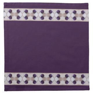Ciruelos púrpuras servilleta de papel