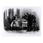 Cirugía antiséptica, 1882 postal