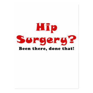Cirugía de la cadera allí hecho eso postal