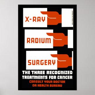 Cirugía del radio de la radiografía póster
