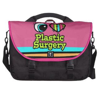 Cirugía plástica del ojo del amor brillante del co bolsas para ordenador