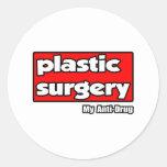 Cirugía plástica… mi antinarcótico pegatinas redondas