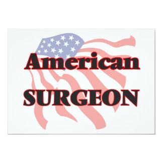 """Cirujano americano invitación 5"""" x 7"""""""