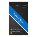 Cirujano - azul negro superior plantillas de tarjeta de negocio