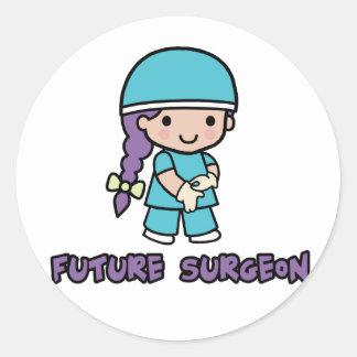 Cirujano chica pegatina