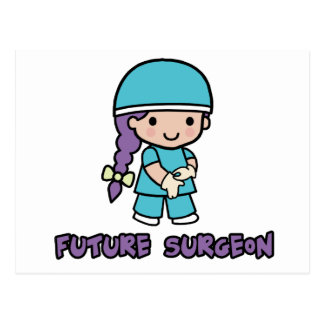 Cirujano chica tarjeta postal