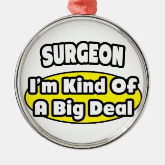Cirujano = clase de una gran cosa adorno redondo plateado