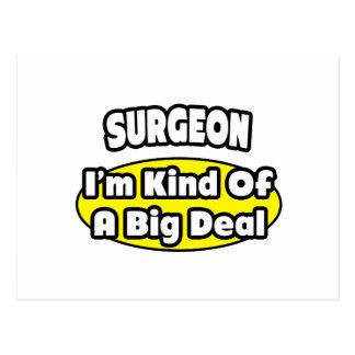 Cirujano = clase de una gran cosa tarjeta postal