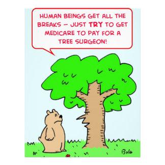 cirujano de árbol de la paga seguro de enfermedad tarjeta publicitaria