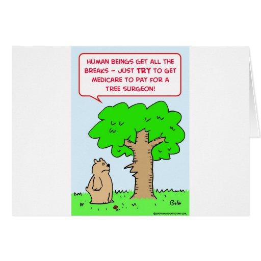 cirujano de árbol de la paga seguro de enfermedad tarjeta