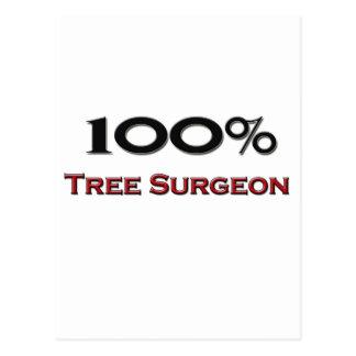Cirujano de árbol del 100 por ciento postal