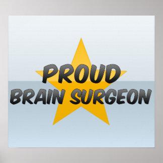 Cirujano de cerebro orgulloso posters
