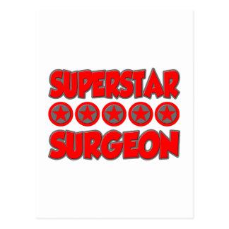 Cirujano de la superestrella tarjetas postales