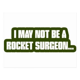 Cirujano de Rocket Tarjeta Postal
