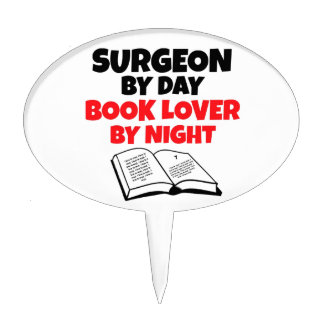 Cirujano del aficionado a los libros del día por n decoración para tarta