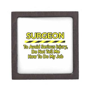 Cirujano divertido. No me diga Cajas De Recuerdo De Calidad