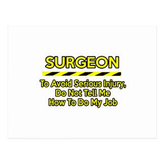Cirujano divertido. No me diga Postal