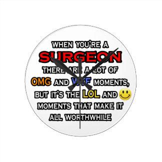 Cirujano divertido… OMG WTF LOL Reloj Redondo Mediano