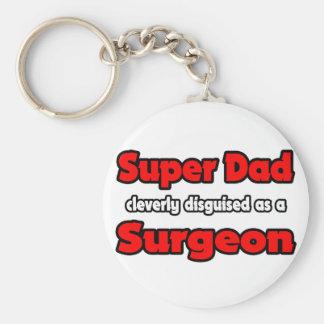 Cirujano estupendo del papá… llavero redondo tipo pin