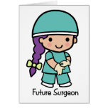 Cirujano futuro - chica tarjeton