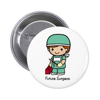 Cirujano futuro - muchacho pin redondo de 2 pulgadas