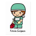 Cirujano futuro - muchacho postal