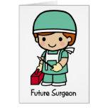 Cirujano futuro - muchacho tarjeton