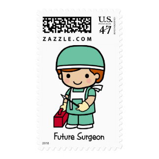 Cirujano futuro - muchacho timbres postales
