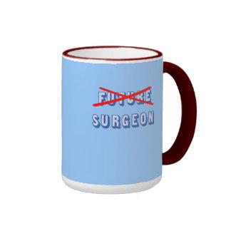 Cirujano futuro no más taza de dos colores