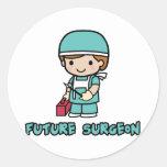 Cirujano (muchacho) etiqueta redonda
