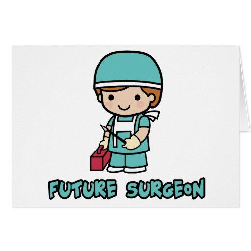 Cirujano (muchacho) tarjeta de felicitación