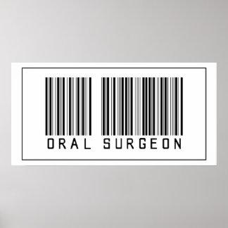 Cirujano oral del código de barras póster