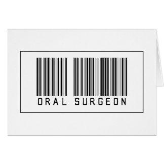 Cirujano oral del código de barras tarjeta de felicitación