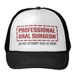 Cirujano oral profesional gorro de camionero