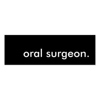 cirujano oral plantilla de tarjeta personal
